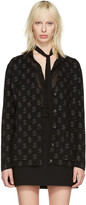Saint Laurent Black Dollar Sign Oversized Cardigan
