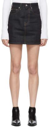 Helmut Lang Indigo Femme Hi Miniskirt