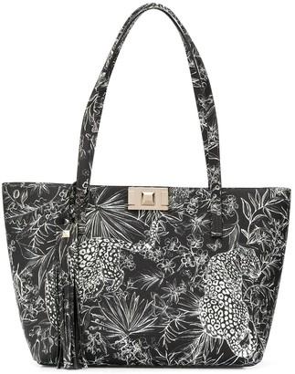 Furla Mimi tropical-print tote bag