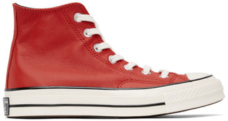 Converse Red Leather Chuck 70 Hi Sneakers