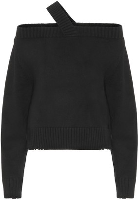 RtA One-shoulder cotton sweater