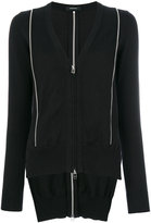 Unconditional inserted zip cardigan