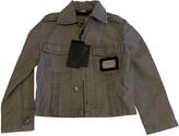 Philipp Plein Grey Denim - Jeans Jackets & Coats