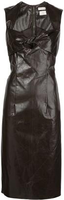 Bottega Veneta Flared Leather Dress