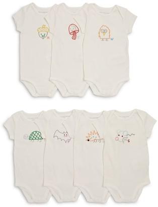 Stella McCartney Set of 7 Embroidered Bodysuits (1-12 Months)
