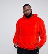 Puma Plus Velvet Pullover Hoodie In Red Exclusive To Asos