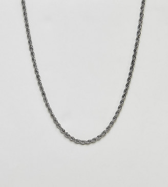 Reclaimed Vintage inspired silver rope chain