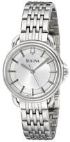 Burberry Bulova 96L171 Dress Round Bracelet Womens Watch