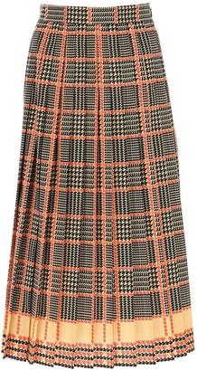 Gucci Plaid Pleated Skirt