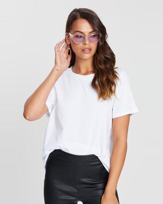 Dazie - Women's White Basic T-Shirts - TGIF Cotton BF Tee - Size 6 at The Iconic