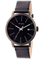 Simplify Mens The 2500 Black Dial Leather-Band Watch with Date SIM2502