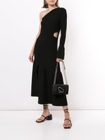 Thumbnail for your product : 3.1 Phillip Lim One-Sleeve Ribbed Cutout Dress