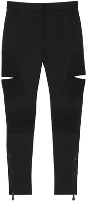 Burberry Cut-Out Detail Skinny-Fit Trousers
