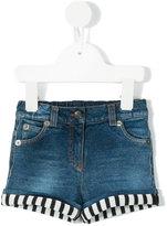 Dolce & Gabbana striped hem denim shorts - kids - Cotton/Spandex/Elastane - 12 mth