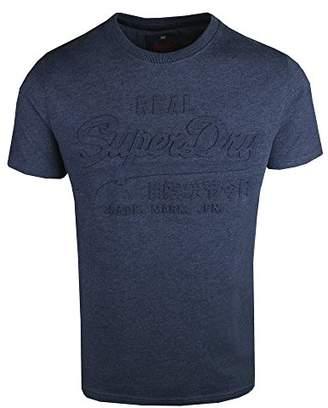 Superdry Men's M10037XOF1 T-Shirt, (Princeton Blue Marl BCY), L