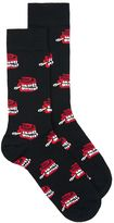 Topman Black Chatterbox Socks