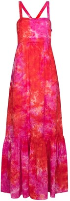 HONORINE Tie-Dye Print Maxi Dress