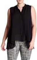 Amy Byer Handkerchief Hem Blouse (Plus Size)