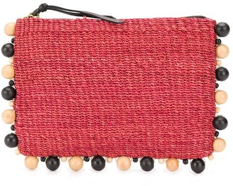 Aranaz bead embellished clutch bag