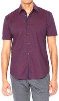 John Varvatos Men's Short Sleeve Shirt - Cherry