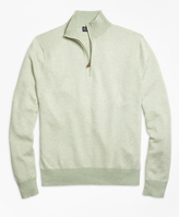 Brooks Brothers Herringbone Half-Zip Sweater