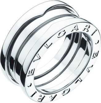 Bvlgari White Gold Three-Band B. Zero1 Ring