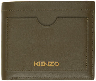 Kenzo Khaki Cut-Out Wallet