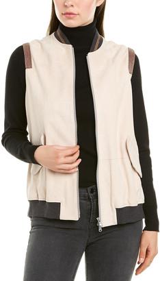 Brunello Cucinelli Suede & Silk-Blend Lined Vest