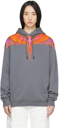 Marcelo Burlon County of Milan Grey and Orange Wings Hoodie