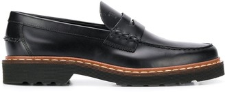 Tod's slip-on stitch detail loafers