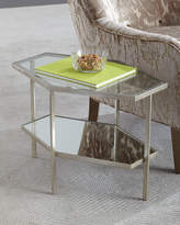 "Global Views Valeria Hexagon Side Table, 18""T"