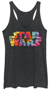 Fifth Sun Star Wars Tie Dye Logo Fill Tri-Blend Racer Back Tank