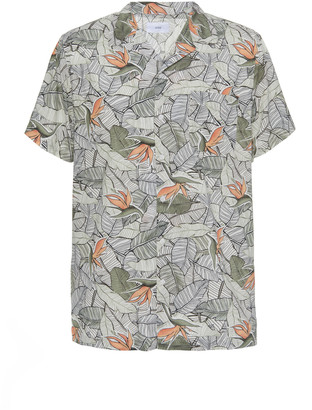 Onia Vacation Printed Cotton-Blend Shirt