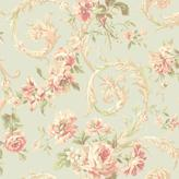 York Wall Coverings York Wallcoverings 56 sq. ft. Shimmering Topaz Rococco Floral Wallpaper