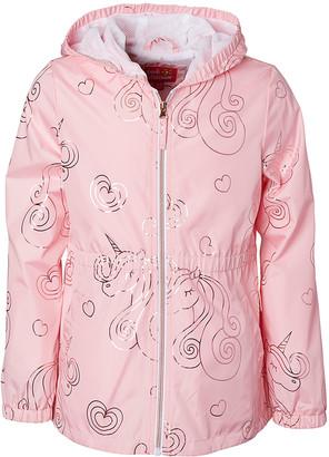 Pink Platinum Girls' Anoraks & Parkas CANDY - Candy Pink Unicorn Anorak - Toddler & Girls
