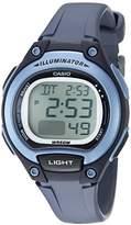 Casio Women's 'Classic' Quartz Resin Casual Watch, Color:Blue (Model: LW-203-2AVCF)