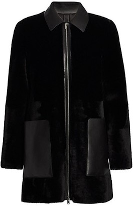 Theory Piazza Leather Polis Coat