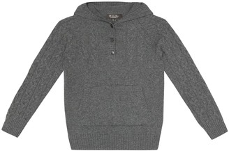 Loro Piana Kids Downy Cables cashmere hoodie
