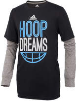 adidas ClimaLite Hoop Dreams Graphic-Print Shirt, Big Boys (8-20)