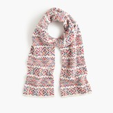 J.Crew Colorful Fair Isle scarf