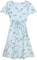 Cath Kidston Seagull Check Cotton Sateen Dress