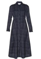 Jil Sander Baobab long-sleeved checked wool shirtdress
