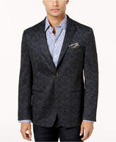 Tallia Men's Slim-Fit Navy and Gray Pattern Sport Coat