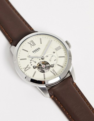Fossil ME3064 Townsman leather watch in brown