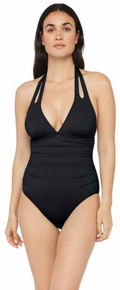La Blanca Women's Island Goddess Double Strap Halter One Piece Swimsuit