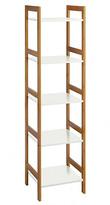 Habitat Drew 5 Shelf Bamboo Bookcase - White