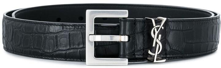 cb0ed5e311 croco embossed monogram belt