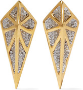 Noir Hidden gold-tone crystal earrings