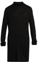 Rick Owens Long-line Roll-neck Fine-knit Top