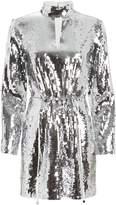 Tibi Avril Sequined Crepe Dress
